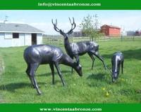 2015 hot sale modern home decor bronze garden animal sculpture