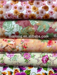 2015 Flower Printed PVC Leather For Bag