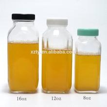 8oz/12oz/16oz french square glass bottles
