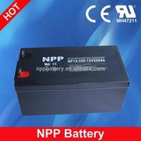 12V 250AH China Factory Rechargeable UPS Backup Battery For UPS Inverter