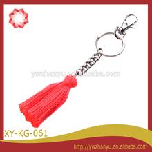 fashion simple chain red tassel keyring