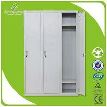 Steel clothes storage bench locker