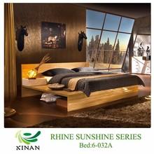 Platform Super King Size Bed,2 Side Drawers