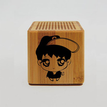 Hairong wireless bamboo portable bluetooth mini speaker for promotion
