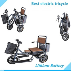 manufacturer direct selling12 inch 48 V quick- folding electric tricycle for adults