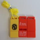 custom wholesale coloured plastic survival whistle