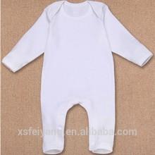 Wholesale 100% combed cotton plain white baby romper