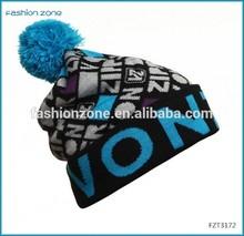Hot sell jacquard slouch crochet beard beanie helmet