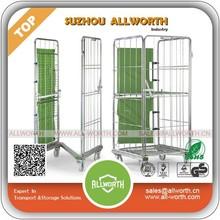 Supermarket Lockable Wire Mesh Steel Cage