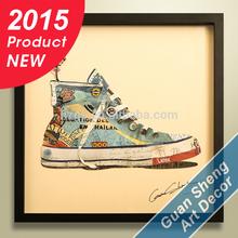 2015 new product sneaker framed canvas art for children's room