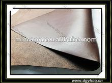 2015 trendy dark brwon breathable 1.2mm thick microfiber chamois leather for making sandal upper