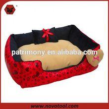 round panda pattern dog bed