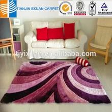 modern long pile 3d shaggy polyester carpet for floor