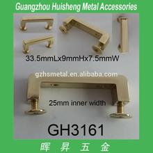 zinc alloy made light gold color hump Bridge shape bag hardware