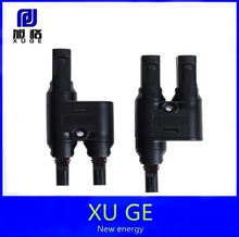 MC4 T branch solar connector, waterproof IP67 used for PV system