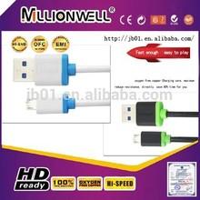 Pure copper AM to Micro USB2.0 cable,Elegant twin color Micro USB cable