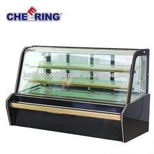 lüks fırın buzdolabı pasta vitrin dolabı pasta vitrin dondurucu pasta vitrin ile mağazalar için ce guangzhou