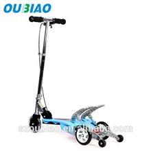 OUBIAO Children Papa Run Aluminum Foot Double Pedal Kick Scooter