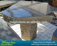 outdoor basalt cheap garden stone tables and chair