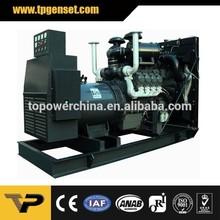 open type 3 Phase 60HZ new design diesel standby power generator 300KW prices Powered by Deutz