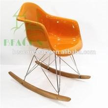 Cheap Fiberglass Armrest Eames Chair RAR Rocking chair for Sale