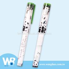 Cute panda story plastic ball pen
