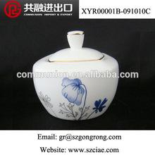 Porcelain & Ceramic CE/EU,CIQ,SGS Certification Blue Flower Sugar Pot