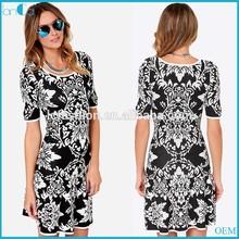 Nuevo vestido de hawaiano para las mujeres/floral vestido de gasa 2015