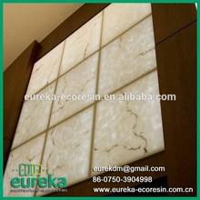 Decorative backlit faux stone alabaster thin hard plastic sheet