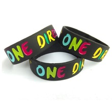 Custom debossed ink filled sports hand band for promotion