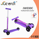 Colorful kids kick 4 wheel foldable scooter electroplated tube new scooter