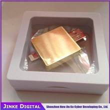 Simple with TF card Golden Metal 16GB OTG iphone 6 usb flash drives