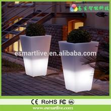 Shatterproof materials/plastic flower pot/led vertical garden, Remote control led light flower pot, plastic big outdoor the led