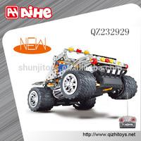 Factory wholesale building block toy teenager self-assemble BO car ,best metal tough rc car