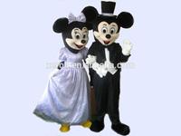 Brilliant quality mickey and minnie mascot costume