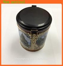 Round tin box with plastic cap