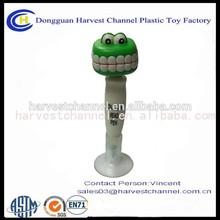 smile tooth plastic ballpoint pen promotional bobble head pen