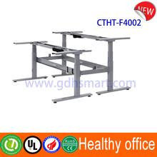 Sabinov adjustable table with 3 stage height adjustable desk leg & lifting metal frame with electric columns