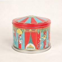rotable metal carousel musical gift tin box with merry-go-round music tin base