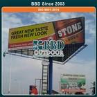 Custom steel structure outdoor advertising billboard