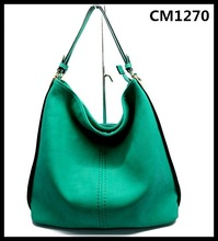 2015 Green most popular mnufacturer pu material fashion leather bags