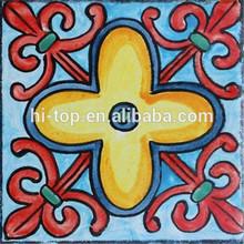 Handmade Painted Ceramics Tile 150*150 National Style Floor Tile Wall Tile