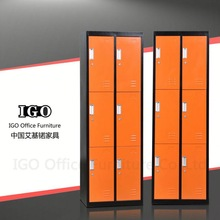 Made in China 6 Lockable Door Knock Down Structure Metal Clothes Locker