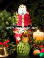 resin santa christmas decoration with led lights