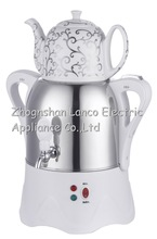 NEW ! NK-S950,3L,Russia Samovar,white + S/S BODY kettle