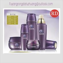 purple cosmetic glass bottles