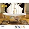 independiente de la flor de oro decorado acrílico bañera de lujo para los emiratos árabes unidos