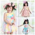 Nuova estate vestito/coreano vestiti per bambini/a buon mercato cina grossisti di abbigliamento