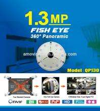 Amovision QP130 Fish Eye1.3 MP P2P Tilt IR Cut Sony CMOS support SD Card Slot Wireless 360 camera fish eye