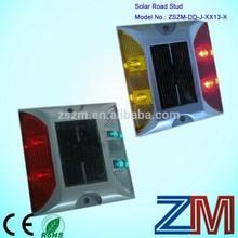 4 LEDS two sides flashing super bright Leds Solar flashing road marking studs